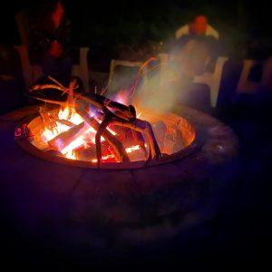 socially distant bonfire